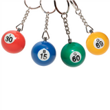 Bingo Ball Key Chain - 16 piec