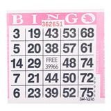 1on Pink Bingo Cards, 500 ct