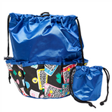 Lucky Print Bingo Bag, Blue