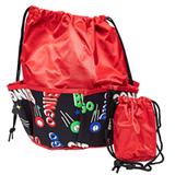 Bingo Bag - Space Print Design - Red - Bingo Accessories - SKU B008960