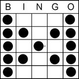 Bingo Game Pattern - Butterfly