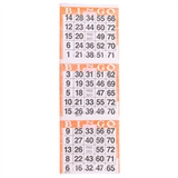 3 on Orange Bingo Cards - 1000