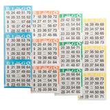 Bingo Paper Game Cards - 3 cards - 4 sheets - 100 books per pack - SKU AG3V4