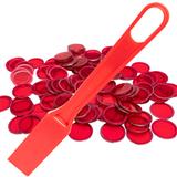 Magnetic Bingo Wand with 100 Bingo Chips - Red - Bingo Accessories - SKU B007940R