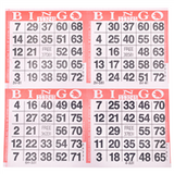 4on Red Bingo Cards, 750 sheet