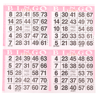 4on Pink Bingo Cards, 750 shee