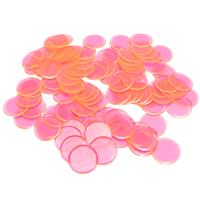 """7/8"""" Pink Plastic Bingo Chips,"""