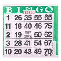 1on Green Bingo Cards, 500 ct