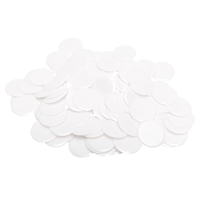 Plastic Bingo Chips - White - 7/8 inch size - 100 per pack - Bingo Accessories - SKU B008490WH