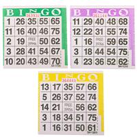 1on Triple Pack Bingo Paper Game Cards - 1500 per pack - SKU A1TP
