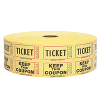 Double Tickets - Yellow
