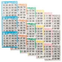 Bingo Paper Game Cards - 3 cards - 6 sheets - 100 books per pack - SKU AG3V6