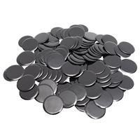 "7/8"" Solid Black Bingo Chips, 100ct"