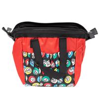 Red Bingo Bag w/zipper, 6 pockets