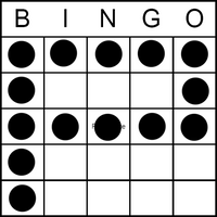 Bingo Game Pattern - Letter P