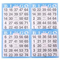 4on Blue Bingo Paper Game Cards - 750 per pack - SKU AG4BL