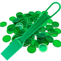 Green Magnetic Wand with 100 C