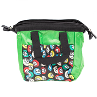 Green Bingo Bag w/zipper, 6 pockets
