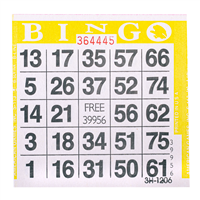 1on Yellow Bingo Cards, 500 ct