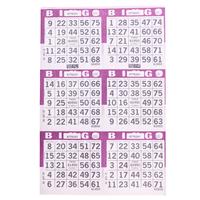 6V Purple Bingo Cards, 500 ct
