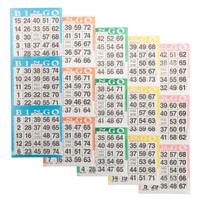 Bingo Paper Game Cards - 3 cards - 5 sheets - 100 books per pack - SKU AG3V5