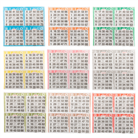 Bingo Paper Game Cards - 4 cards - 9 sheets - 50 books per pack - SKU AG4S9