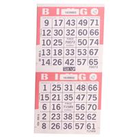 2on V Pink Bingo Cards, 750 sh