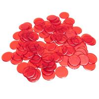 "7/8"" Red Plastic Bingo Chips,"