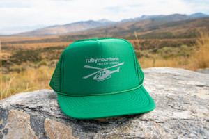 Ruby Mountain Heli-Ski Green Heli Trucker Hat