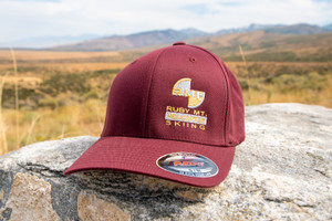 Ruby Mountain Heli-Ski Maroon Flexfit Hat