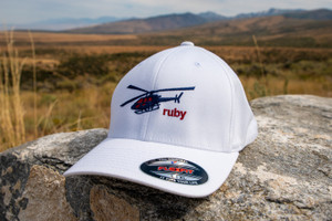 Ruby Mountain Heli-Ski White Flexfit Hat