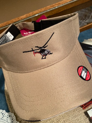 Ruby Mountain Heli-Ski Tan visor