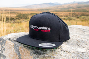 Ruby Mountain Heli-Ski Black Snapback Hat