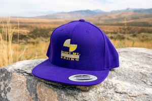 Ruby Mountain Heli-Ski Purple Snapback Hat