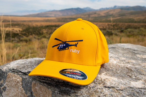 Ruby Mountain Heli-Ski Yellow Flexfit Hat