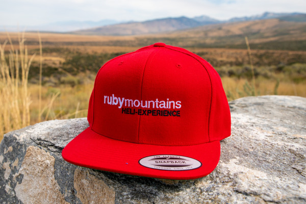 Ruby Mountain Heli-Ski Red Snapback Hat