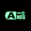 "Blood Type A- Negative - ""Super-Lumen"" Glow-In-The-Dark Patch"