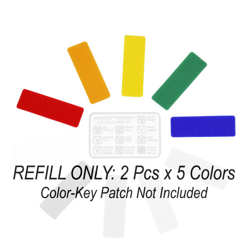 Refill for Prepper's Color-Coding Kit (5 Colors)
