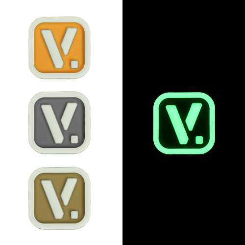 """Vanquest [V.] Logo - """"Super-Lumen"""" Glow-In-The-Dark Patch"""