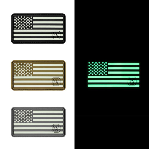 "US Flag (Left Star) - ""Super-Lumen"" Glow-In-The-Dark Patch"