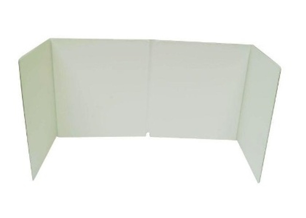 Save your walls & keep your grinding area clean with this fold-able & store-able vinyl splash guard. For added safety install the companion eye shield - sold separately (#718315) - to create a clear viewing surface that protects your eyes from glass and dust while grinding.