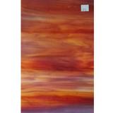 Red-Orange Opalescent Glass