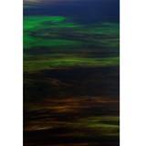 Dark Brown and Green Wispy Opal