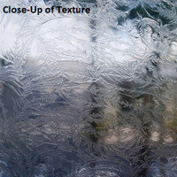 Clear Glue Chipped Textured Glass