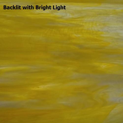 Canary Yellow & White Wispy Opal Glass