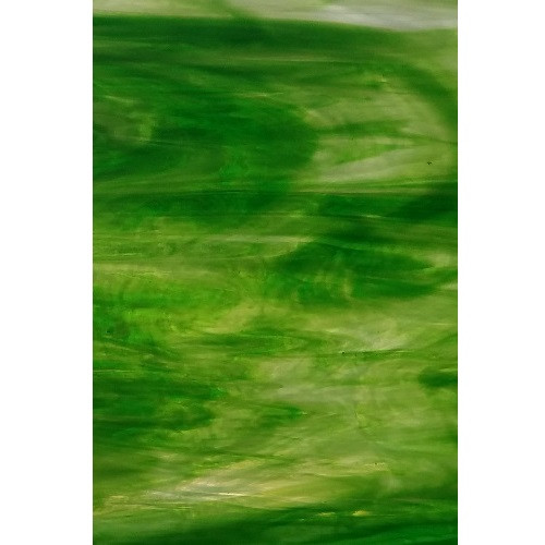 Green & White Wispy Opal