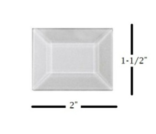 "1-1/2"" x 2"" Glass Bevel"