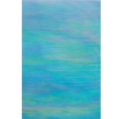 Iridized Sky Blue Opalescent Glass