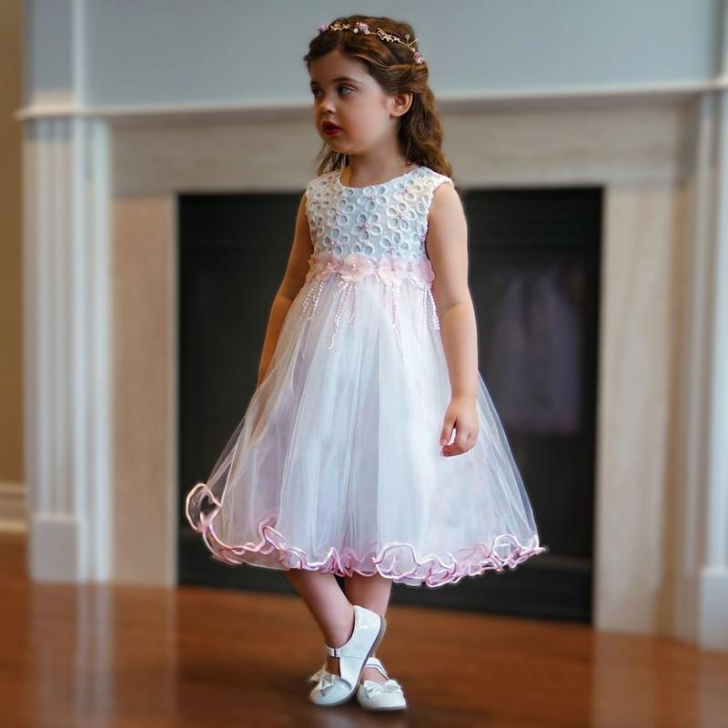 Charlotte Dress - Baby Powder