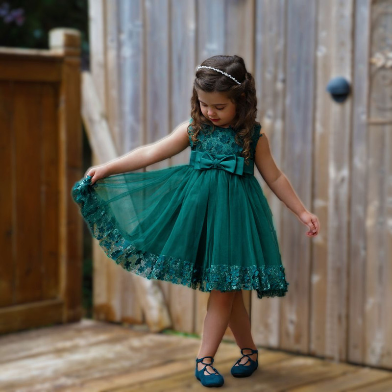 Victoria Dress - Emerald Green